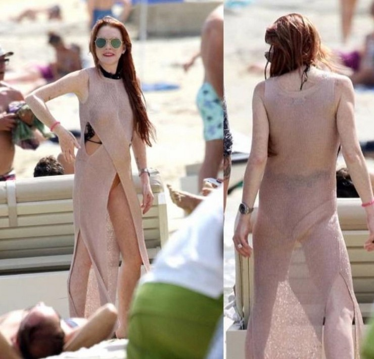 Внешний вид Линдси Лохан на пляже разочаровал поклонников