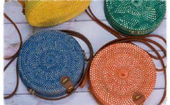 Цветные сумочки из ротанга Bali Style: Будь в тренде!
