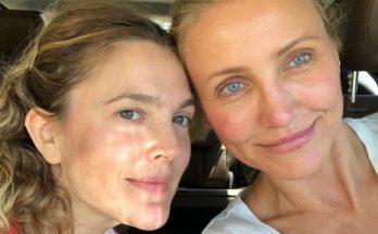 Дрю Бэрримор и Кэмерон Диаз показали совместный снимок без макияжа