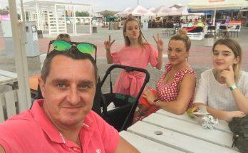Дядя Жора появился с маленькой дочерью Аминой на уличном фестивале