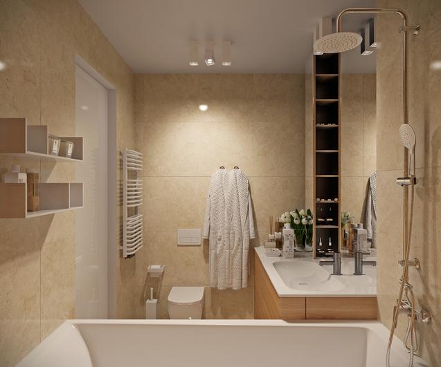 Как сделать маленькую ванную уютной и красивой