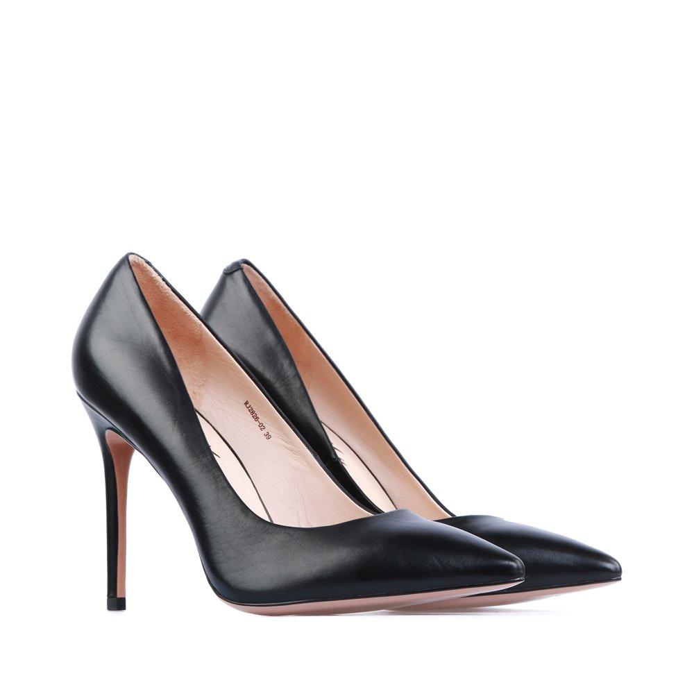 туфли на шпильке черные