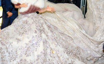 Репортеры засняли Дженнифер Лопес в свадебном платье