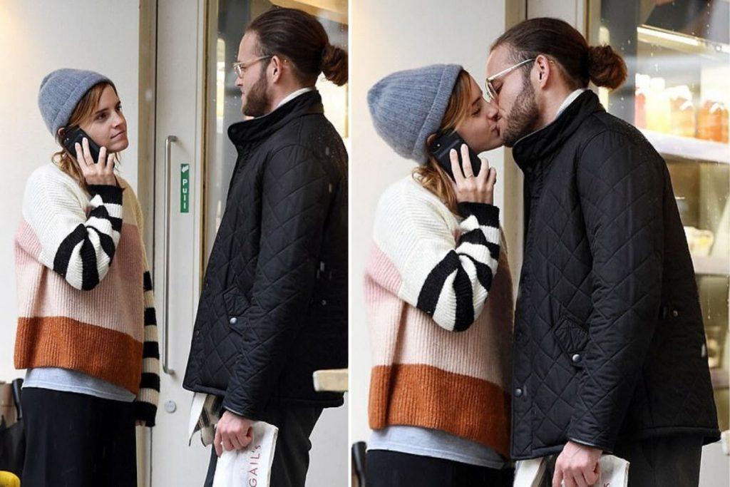 Эмма Уотсон с загадочным незнакомцем на улицах Лондона