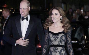 Кейт Миддлтон и принц Уильям на мероприятии Royal Variety Performance в Лондоне