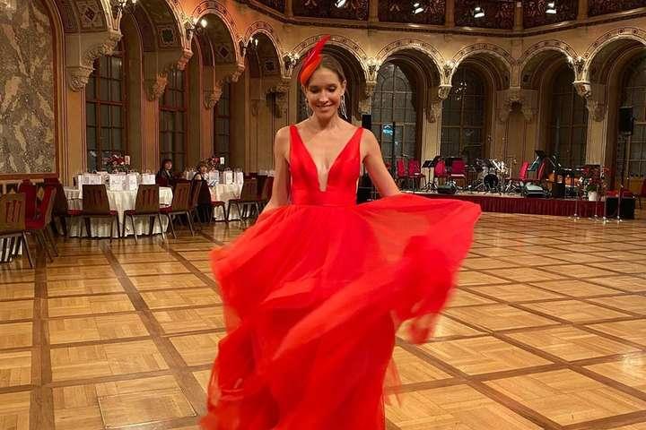 Катя Осадчая посетила Украинский венский бал в Австрии