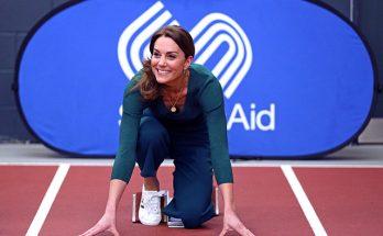 Кейт Миддлтон в брюках-кюлотах от Zara посетила спортивное мероприятие