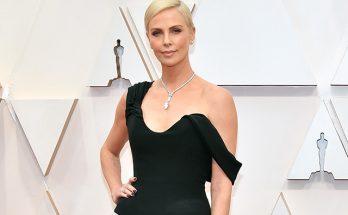 Шарлиз Терон в реплике платья Анджелины Джоли появилась на кинопремии «Оскар-2020»