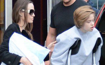 Дочь Анджелины Джоли первый раз вышла на публику после госпитализации