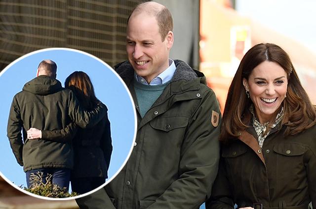 Кейт Миддлтон и принц Уильям романтично обнимались во время поездки в Ирландию