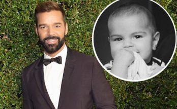 Рики Мартин впервые показал лицо своего младшего ребенка