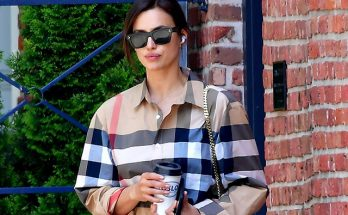 В oversize-рубашке и носках от Burberry: Ирина Шейк провела день вместе Брэдли Купером