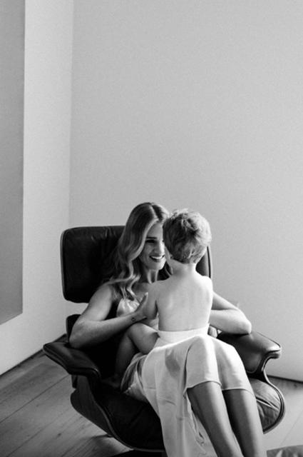 Рози Хантингтон-Уайтли с сыном Джеком приняли участие в фотосете
