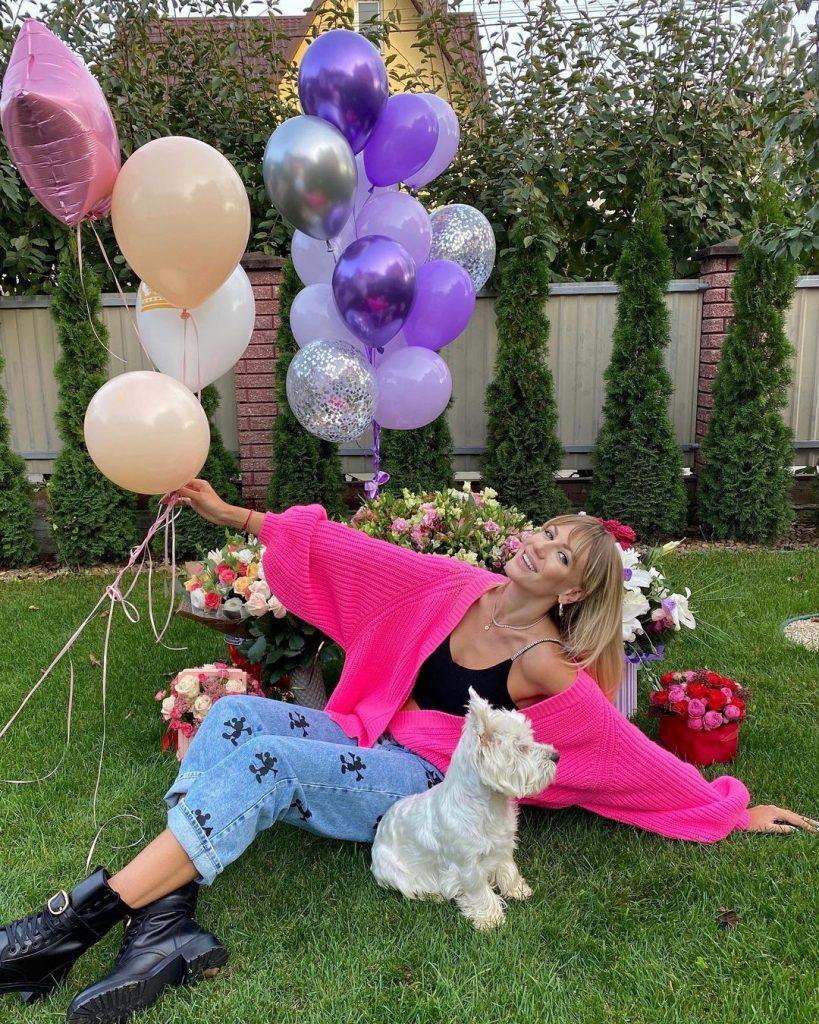 Леся Никитюк показала, как праздновала  день рождения