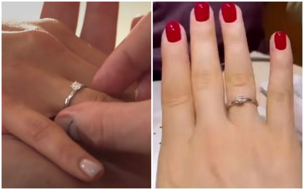 Носит ли Ксения Мишина помолвочное кольцо от Александра Эллерта