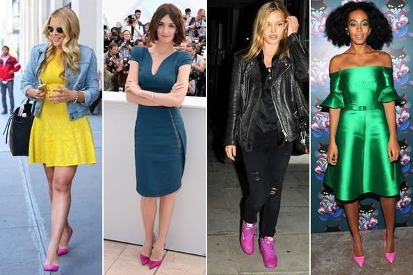 самый громкий тренд этого сезона – розовая обувь