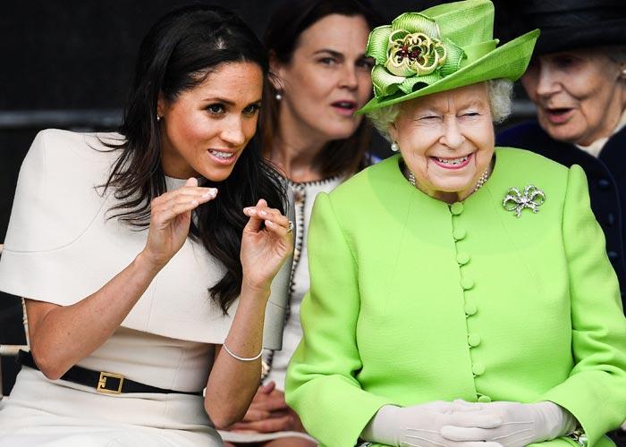 после скандального интервью Меган Маркл все же поговорила с королевой Елизаветой II