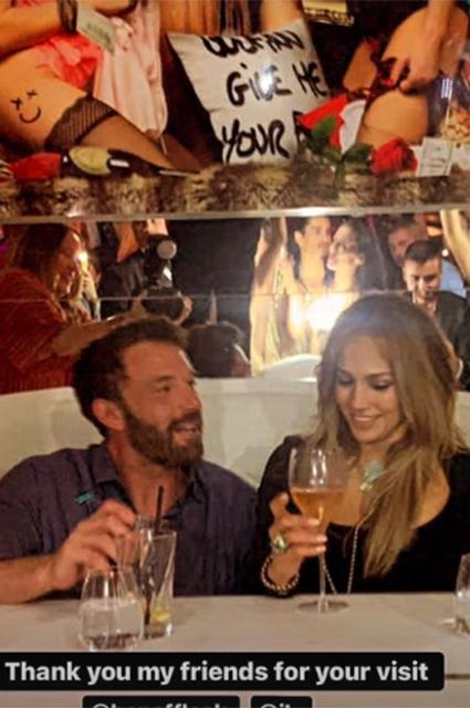 Дженнифер Лопес отметила день рождения с Беном Аффлеком, фото